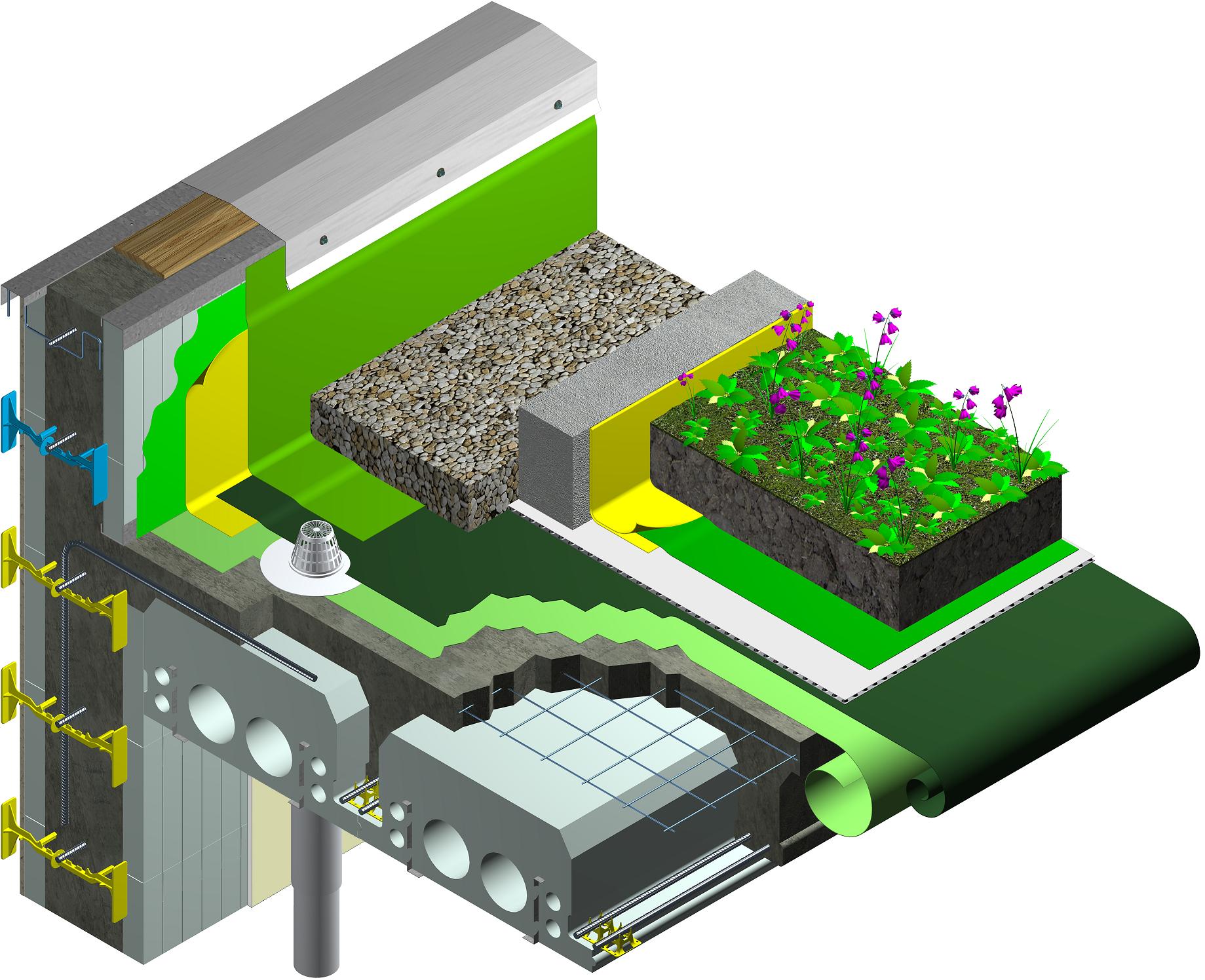 Quad-Deck für Decken & Dächer – Quad-Lock Isolierende Betonformen